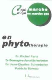 En phytotherapie - Couverture - Format classique