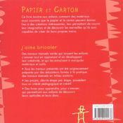 Papier Carton - 4ème de couverture - Format classique