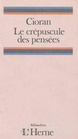 Le crépuscule des pensées - Couverture - Format classique