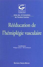 Reeducation De L'Hemiplegie Vasculaire - Intérieur - Format classique