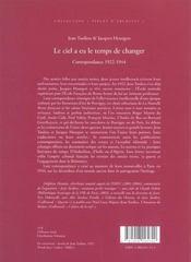 Le Ciel A Eu Le Temps De Changer - 4ème de couverture - Format classique