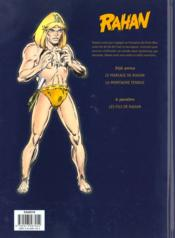 Rahan t.2 ; la montagne fendue - 4ème de couverture - Format classique
