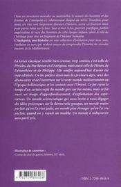 La Grece Classique 510-336 Av.J.-C.L'Antiquite Une Histoire - 4ème de couverture - Format classique