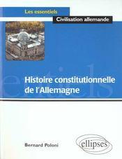 Histoire Constitutionnelle De L'Allemagne - Intérieur - Format classique