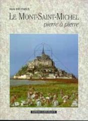 Le mont saint-michel pierre a pierre - Couverture - Format classique