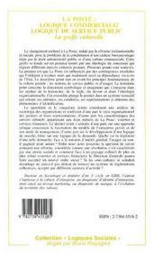 La Poste : Logique Commerciale, Logique De Service Publique - 4ème de couverture - Format classique