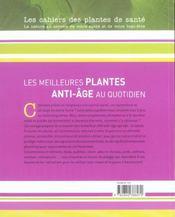 Meilleurs Plantes Anti-Age Au Quotidien (Les) - 4ème de couverture - Format classique