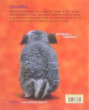 Chinchillas-Les Connaitre, Les Nourrir, Les Soigner - 4ème de couverture - Format classique