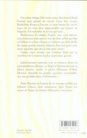 Parpot Le Bienheureux - 4ème de couverture - Format classique
