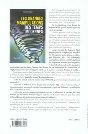 Grandes Manipulations Temps Modernes - 4ème de couverture - Format classique