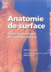 Anatomie De Surface. Bases Anatomiques De L'Examen Clinique - Intérieur - Format classique
