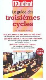 Le guide des troisièmes cycles - Intérieur - Format classique