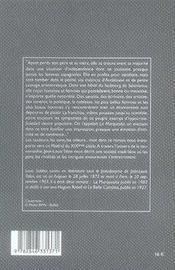 La marquesita - 4ème de couverture - Format classique