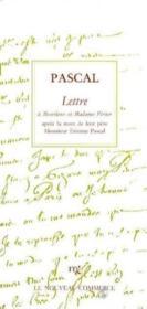 Lettre A Monsieur Et Madmae Perier - Couverture - Format classique