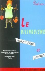 Le bilinguisme aujourd'hui et demain - Intérieur - Format classique