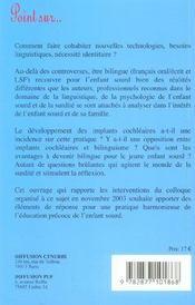 Le bilinguisme aujourd'hui et demain - 4ème de couverture - Format classique