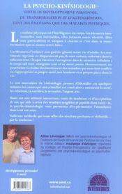 La Tendresse ... Chemin De Guerison Des Emotions Et Du Corps Par La Psycho-Kinesiologie, Science De La Tendresse - 4ème de couverture - Format classique