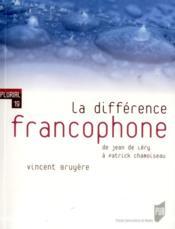 La différence francophone - Couverture - Format classique