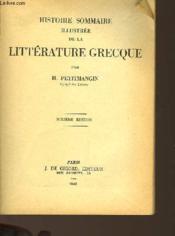 Histoire Sommaire De La Litterature Grecque - Couverture - Format classique