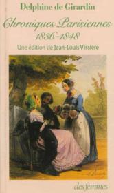 Chroniques Parisiennes 1836-1848 - Couverture - Format classique