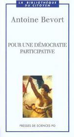Pour une démocratie participative - Intérieur - Format classique
