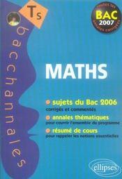 Mathematiques ; enseignement obligatoire et de spécialité ; sujets du Bac 2006 corrigés et commentés, annales thématiques et résumé de cours (Bac 2007) - Intérieur - Format classique