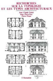 Recherches sur la typologie et les types architecturaux - Couverture - Format classique
