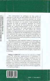Le Chomage Et L'Action Publique ; Le Bricolage Institutionnalise - 4ème de couverture - Format classique