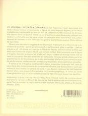 Le journal de Yaël Koppman - 4ème de couverture - Format classique