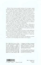 Journal D'Un Militaire D'Occasion - 4ème de couverture - Format classique