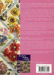 Broderie bucolique au ruban et en relief - 4ème de couverture - Format classique