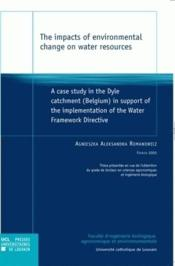 The Impact Of Environmental Change On Water Resources - Couverture - Format classique