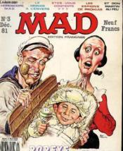 Mad N°3 - Edition Francaise - Popey Vu Par M. Drucker Et S. Hart - Couverture - Format classique