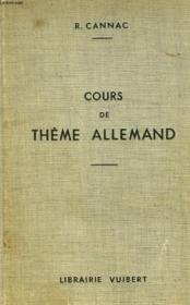 Cours De Theme Allemand - Couverture - Format classique