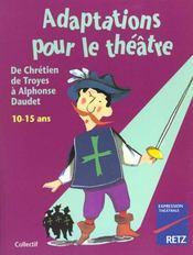 Adaptations Pour Le Theatre 10-15 Ans - Intérieur - Format classique