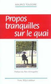 Propos Tranquilles Sur Le Quai - Intérieur - Format classique