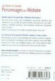 Le Petit Livre ; Les Petits Et Grands Personnages De L'Histoire - 4ème de couverture - Format classique