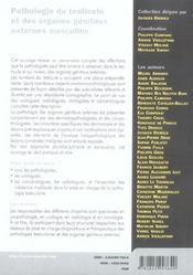 Pathologie Du Testicule Et Des Organes Genitaux Externes Masculins - 4ème de couverture - Format classique