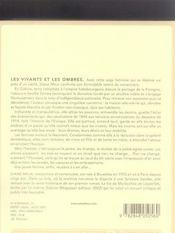 Les vivants et les ombres - 4ème de couverture - Format classique