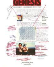 Genesis N.3 ; Manuscrits, Recherche, Invention - Couverture - Format classique
