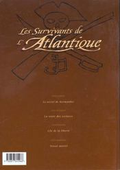 Les survivants de l'Atlantique t.4 ; trésor mortel - 4ème de couverture - Format classique