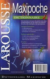 Maxipoche (édition 2008) - 4ème de couverture - Format classique