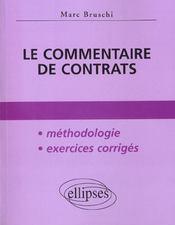 Le Commentaire De Contrats Methodologie Exercices Corriges - Intérieur - Format classique