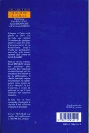 La Sanction - Petits Meditations A L'Usage Des Educateurs - 4ème de couverture - Format classique