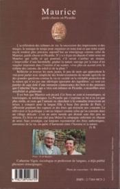 Maurice Garde-Chasse En Picardie - 4ème de couverture - Format classique