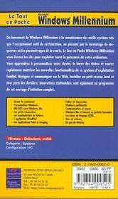 Windows Millennium - 4ème de couverture - Format classique