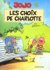 Jojo t.11 ; les choix de Charlotte - Intérieur - Format classique