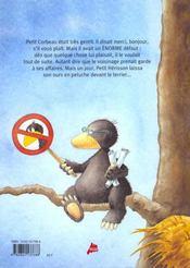 Le petit corbeau - 4ème de couverture - Format classique