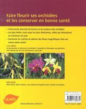 Orchidées - 4ème de couverture - Format classique