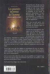 Pouvoirs Inconnus De L'Homme - 4ème de couverture - Format classique